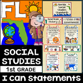 1st Grade Florida Social Studies Standards {Florida Standards}