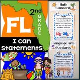 Florida Standards - I Can Statements Math & ELA (2nd Grade) {Florida Standards}