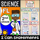 2nd Grade Florida Science Standards - I Can Statements - Full Page Size