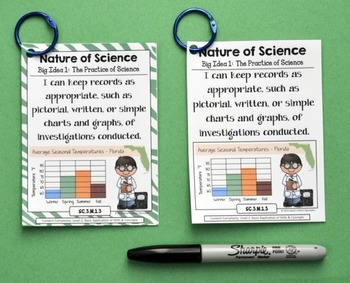 3rd Grade Florida Science Standards - I Can Statements - Full Page Size