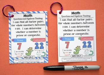 Florida Standards - I Can Statements Math & ELA (4th Grade) - Full Page Size