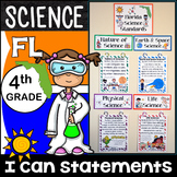 4th Grade Florida Science Standards - I Can Statements - Full Page Size