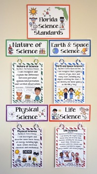 5th Grade Florida Science Standards - I Can Statements - Full Page Size