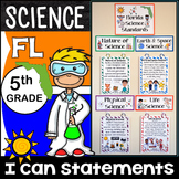 5th Grade Florida Science Standards - I Can Statements - {