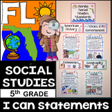 5th Grade Florida Social Studies Standards {Florida Standards}