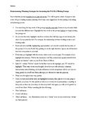 ELA Florida Standards Assessment Brainstorming Essay