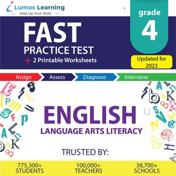 Florida Standards Assessments Practice Test, Worksheets - FSA Grade 4 ELA