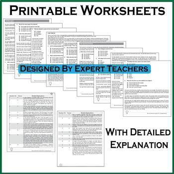 Florida Standards Assessments Practice Test, Worksheets - Grade 5 Math Test Prep