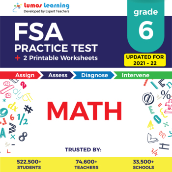 Florida Standards Assessments Practice Test, Worksheets - Grade 6 Math Test Prep