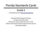 Florida Standards Bulletin Board Cards - Grade 05