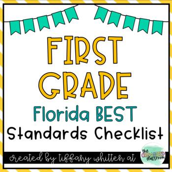 Florida Standards Checklist for 1st Grade