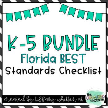 Florida Standards Checklist K-5 Bundle