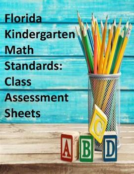 Florida Standards: Class Assessment Sheets (Kindergarten)