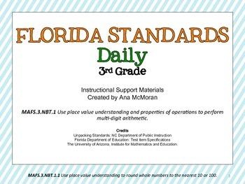 Florida Standards Daily 3rd Grade: MAFS3.NBT1.1