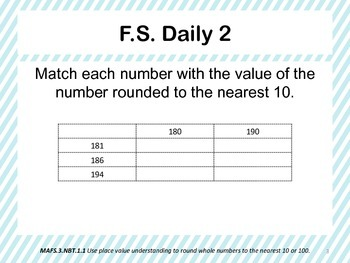 Florida Standards Daily 3rd Grade: MAFS3.NBT1.1