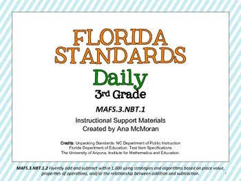 Florida Standards Daily 3rd Grade: MAFS3.NBT1.2