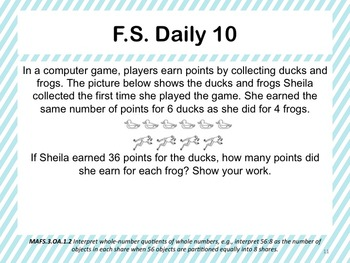 Florida Standards Daily 3rd Grade: MAFS3.OA.1.2