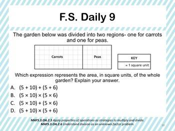 Florida Standards Daily 3rd Grade: OA2.5 - OA2.6