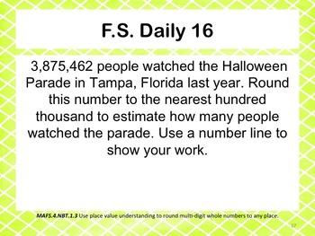 Florida Standards Daily 4th Grade: NBT.1.3