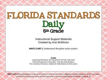 Florida Standards Daily 5th Grade: MAFS.NBT.1.2