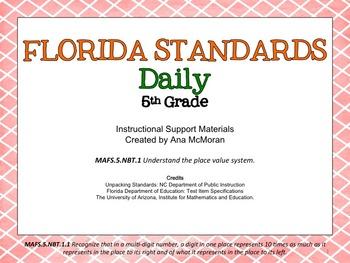 Florida Standards Daily Math-5th Grade: MAFS5.NBT1.1