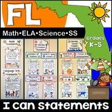 Florida Standards I Can Statements K-5: Math, ELA, Science & Social Studies