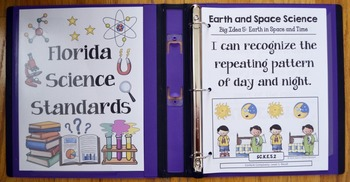 Kindergarten Florida Science Standards - I Can Statements - Full Page Size