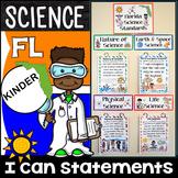 Kindergarten Florida Science Standards - I Can Statements - {Florida Standards}