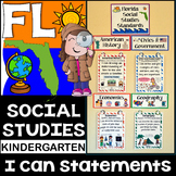 Kindergarten Florida Social Studies Standards {Florida Standards}