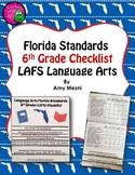 Florida Standards LAFS Language Arts 6th Grade Checklist Layered Flap Book