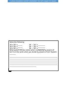 Florida Standards Math Ninja Assessment NBT2