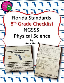 Florida Standards NGSSS Physical Science 8th Grade Checkli