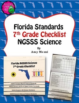 Florida Standards NGSSS Science 7th Grade Checklist Layere
