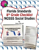 Florida Standards NGSSS Social Studies 8th Grade Checklist Layered Flap Book