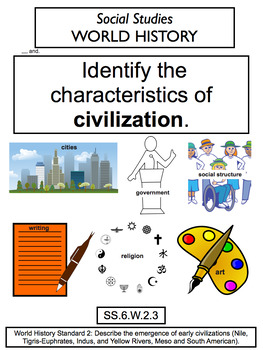 Florida Standards Posters- 6th Grade Social Studies