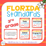 Florida Standards for Third Grade: I Can Statements
