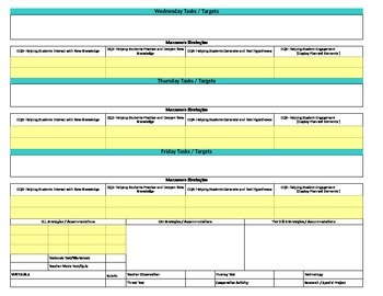 Florida Standards/Marzano Interactive Lesson Plan Template- 1st  Grade LAFS w/SS