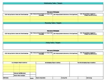 Florida Standards/Marzano Interactive Lesson Plan Template-Kindergarten MAFS