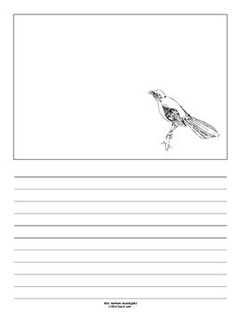 Florida State Bird Notebooking Set (Northern Mockingbird)