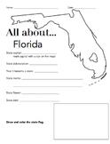 Florida State Facts Worksheet: Elementary Version