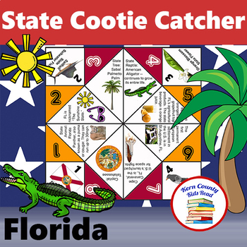 Florida State Facts and Symbols Cootie Catcher Fortune Teller