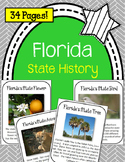 Florida State History Unit. US State History. 34 Pages!