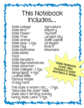 Florida State Notebook. US History and Geography