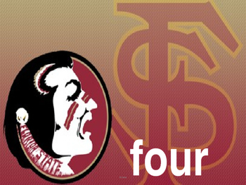 Florida State Number words 1 - 10