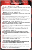 Florida State Standards for Visual Arts K-5 Checklist