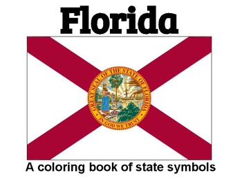 Florida State Symbols Coloring Booklet