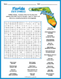 FLORIDA State Symbols Word Search Puzzle Worksheet Activity