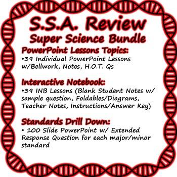Statewide Science Assessment (SSA) Review SUPER BUNDLE