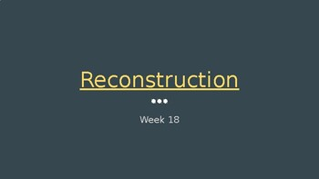 Florida Studies- The Reconstruction
