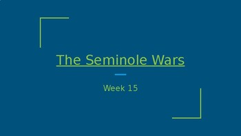 Florida Studies- The Seminole Wars